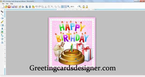 День рождения карты Designer