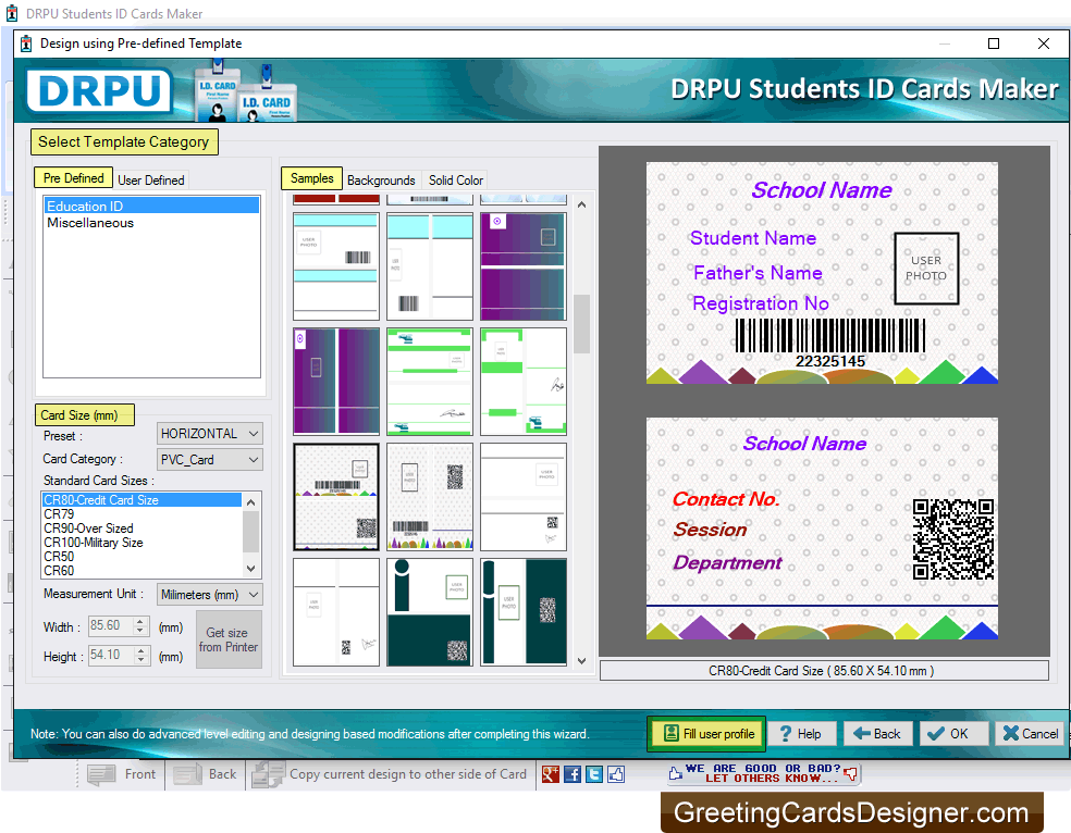 Students Id Card Designer Software To Create And Print Student Id Cards