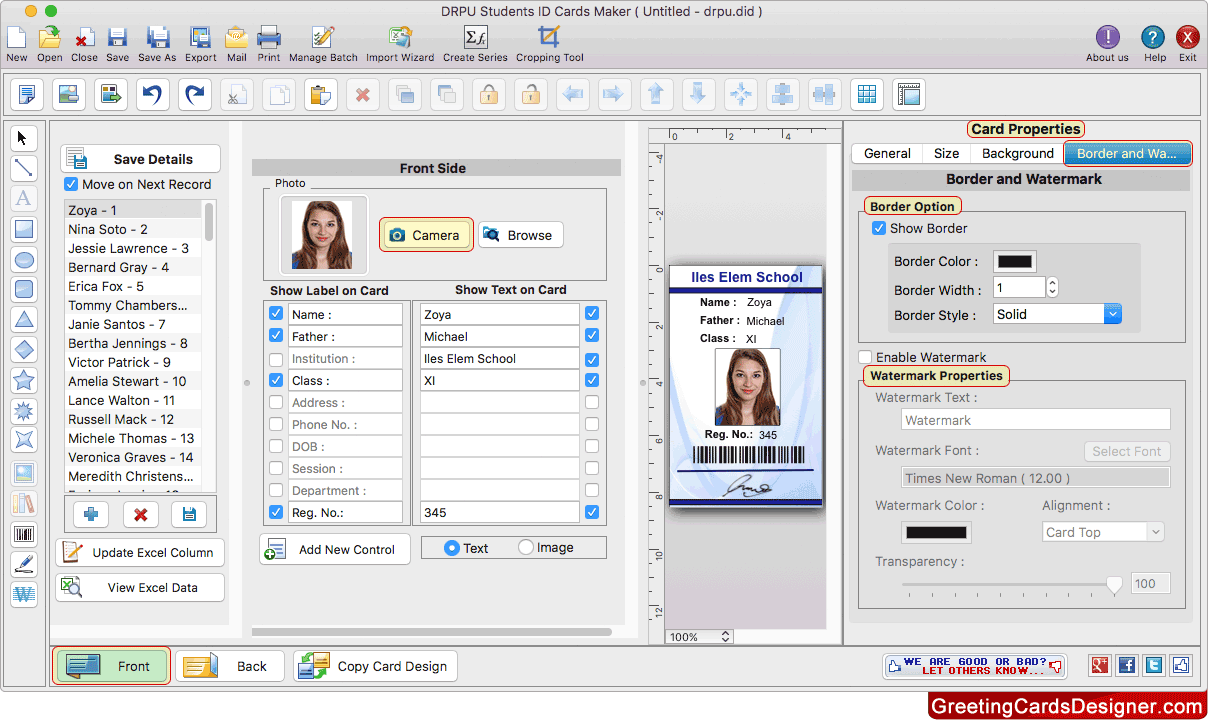 Students Id Cards Maker For Mac Screenshots To Know How To Design