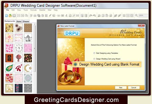 Wedding card designer software create invitation cards make marriage