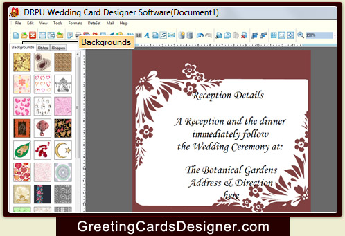 Screenshots Of Wedding Cards Designing Software To Make Invitation Card